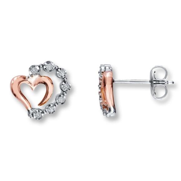 Kay Jewelers Jewelry Real Diamond Rose Gold Earrings Poshmark